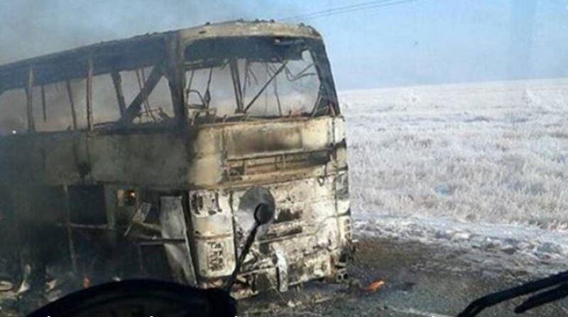 Más de 50 muertos en incendio de un autobús de pasajeros en Kazajistán