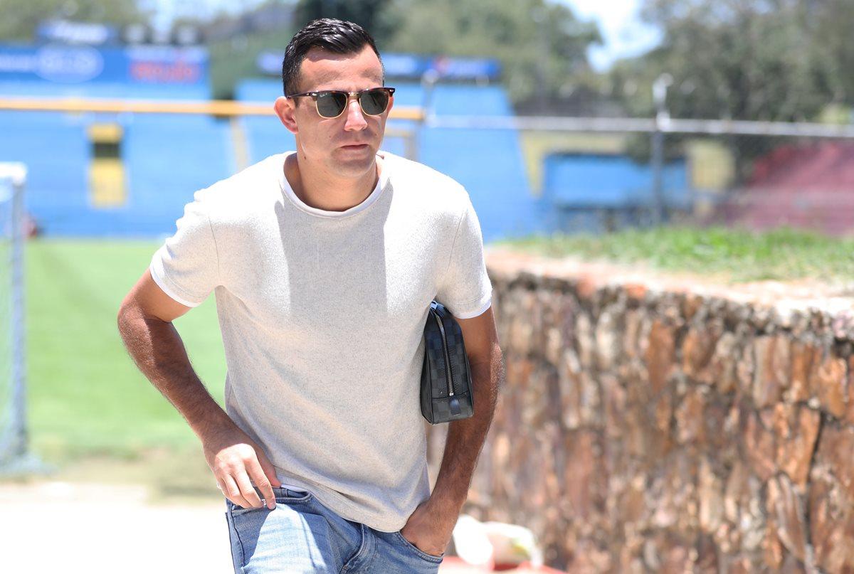 El volante de Municipal Marco Pappa fue suspendido cuatro partidos (Foto Prensa Libre: Jorge Ovalle)
