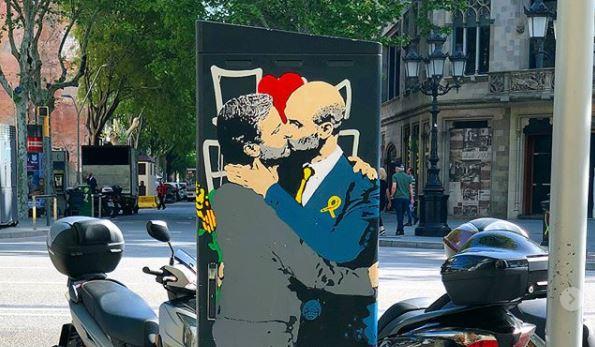 Con el beso entre José Mourinho y Pep Guardiola, TvBoy quiere demostrar que el amor lo vence todo, incluso la rivalidad más fuerte. (Foto Prensa Libre: Instagram TvBoy)