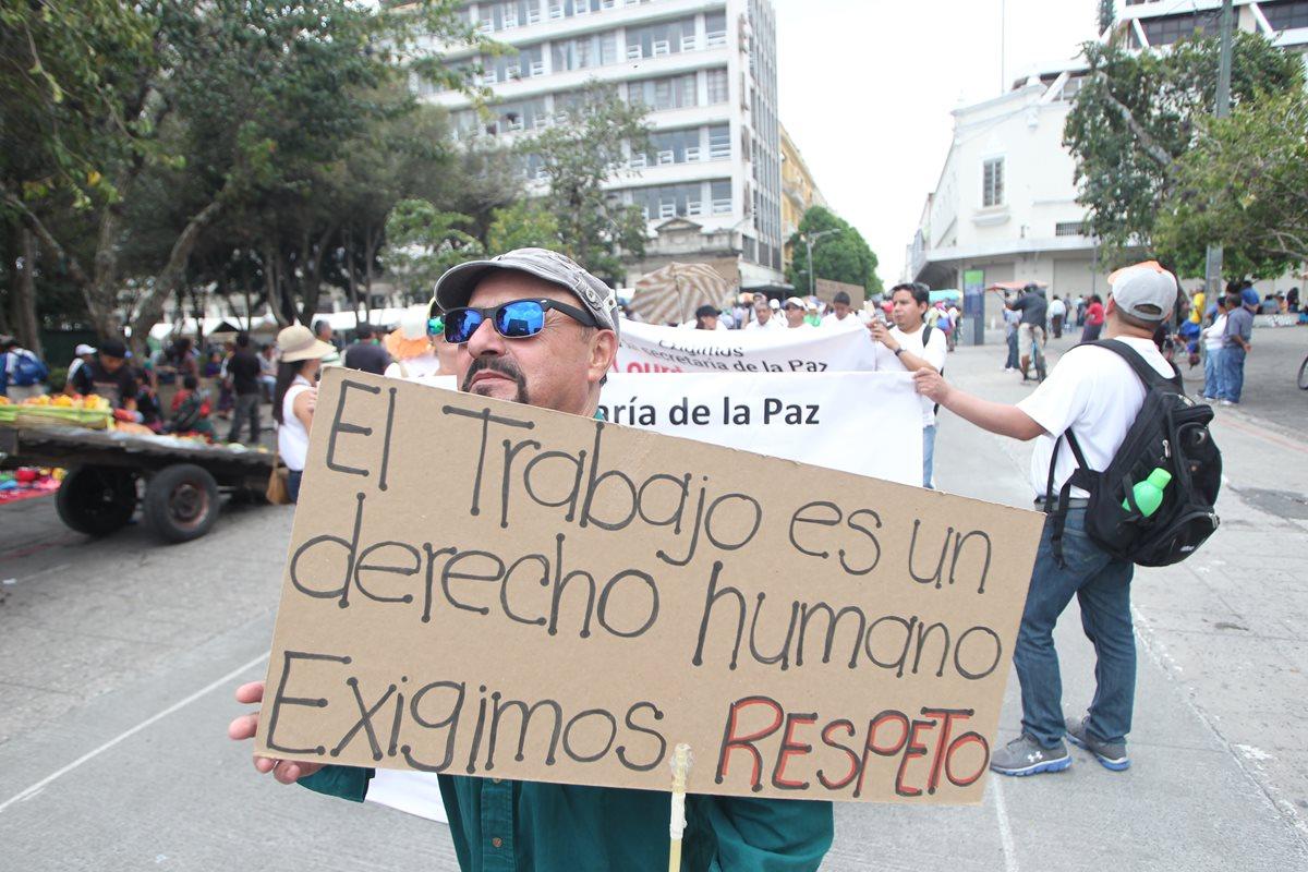 Los trabajadores han exigido reivindicaciones de derechos laborales en diferentes actividades. (Foto, Prensa Libre: Hemeroteca PL).