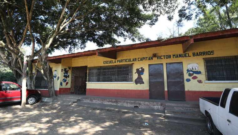 Escuela Particular Capitan Victor Manuel Barrios, ubicada en la Colonia Sakerti II zona 7. Lugar donde supuestamente el ciudadano estadounidense David Elliot Houstle realizaba producción de pornografía de menores de edad.(Foto Prensa Libre: Esbin García)
