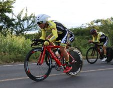 El equipo guatemalteco marcó el paso en la contrarreloj de la tercera etapa B. (Foto Prensa Libre: Hugo Oliva)