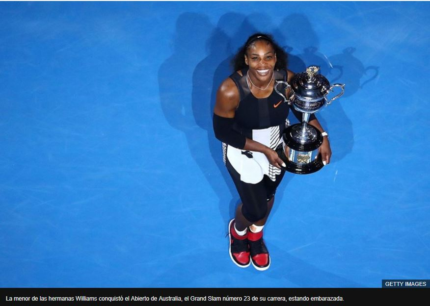 La menor de las hermanas Williams conquistó el Abierto de Australia, el Grand Slam número 23 de su carrera, estando embarazada.