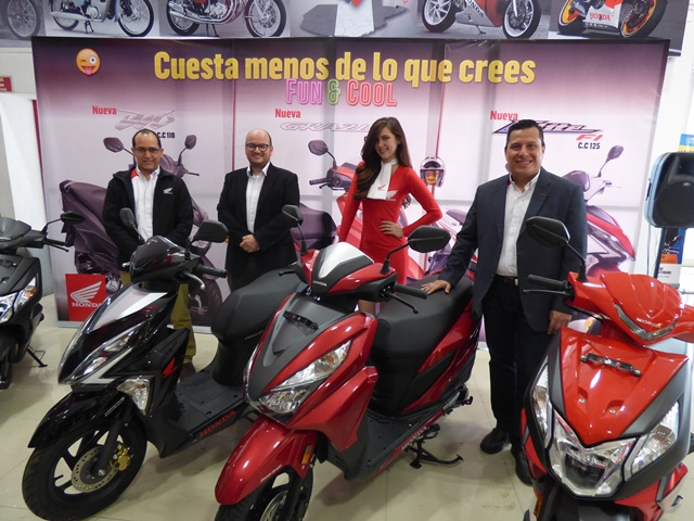 Honda presentó sus nuevas scooters