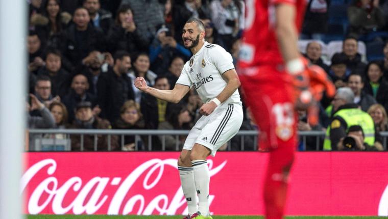 El francés Karim Benzema le dio el triunfo al Real Madrid. (Foto Prensa Libre: EFE)