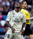 El brasileño Vinícius sigue siendo criticado por la poca efectividad con el Real Madrid. (Foto Prensa Libre: AFP).