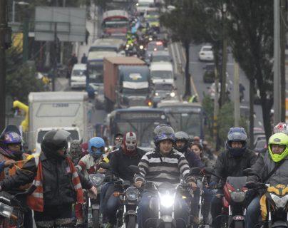 Cuatro de cada 10 automotores que circulan son motos y al 31 de diciembre del 2019, el Registro Fiscal de Vehículos, contabiliza un millón 524 mil unidades que es una cifra histórica en Guatemala. (Foto Prensa Libre: Hemeroteca)
