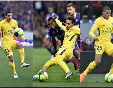 Ángel Di María es el que fue, Kyliam Mbappé es el que pudo haber sido y Neymar es el que puede ser. (Foto Prensa Libre: AFP)