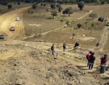 Rufino Calabay Aspuac murió arrollado por el tractor que operaba en el Libramiento de Chimaltenango. (Foto Prensa Libre: Víctor Chamalé)