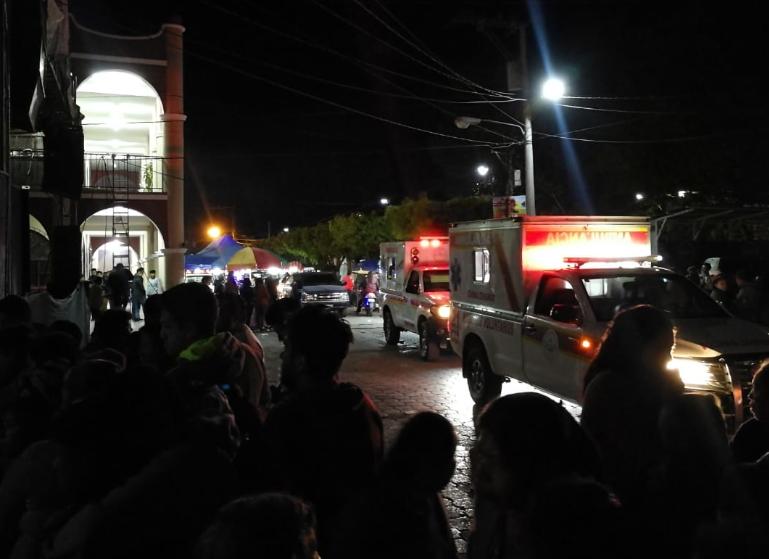 El ataque se registró en el parque central de El Tejar. (Foto Prensa Libre: Cortesía).