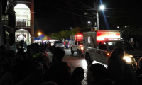 El ataque se registró en el parque central de El Tejar. (Foto Prensa Libre: César Pérez).