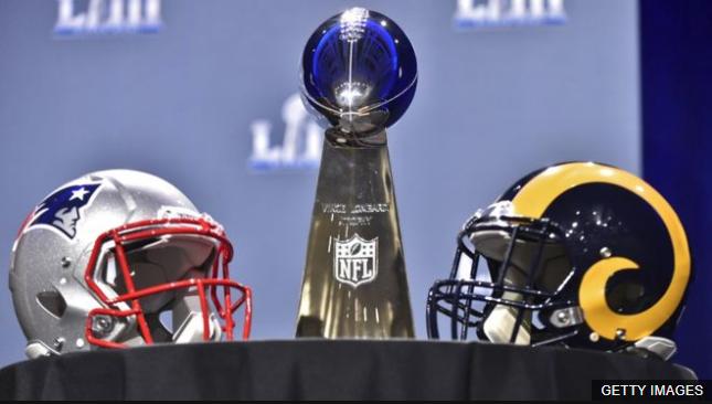 Los Angeles Rams y New England Patriots disputan este domingo el Super Bowl LIII de la liga NFL, uno de los eventos deportivos más vistos en el mundo. GETTY IMAGES