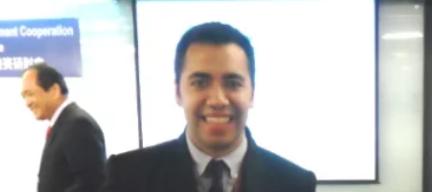 El estudiante guatemalteco Pablo Roberto Elías cuando ganó en el 2015 el primer lugar en investigación de ICDF Taiwán en la categoría ciencias de la salud. (Foto Prensa Libre: Cortesía).