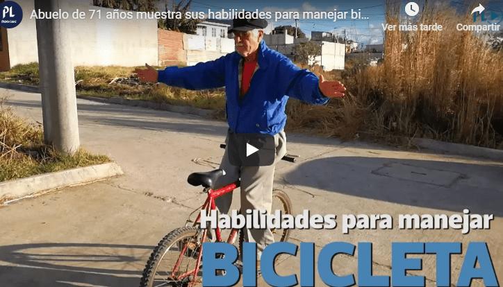Oscar García durante uno de los recorridos en bicicleta. (Foto Prensa Libre).