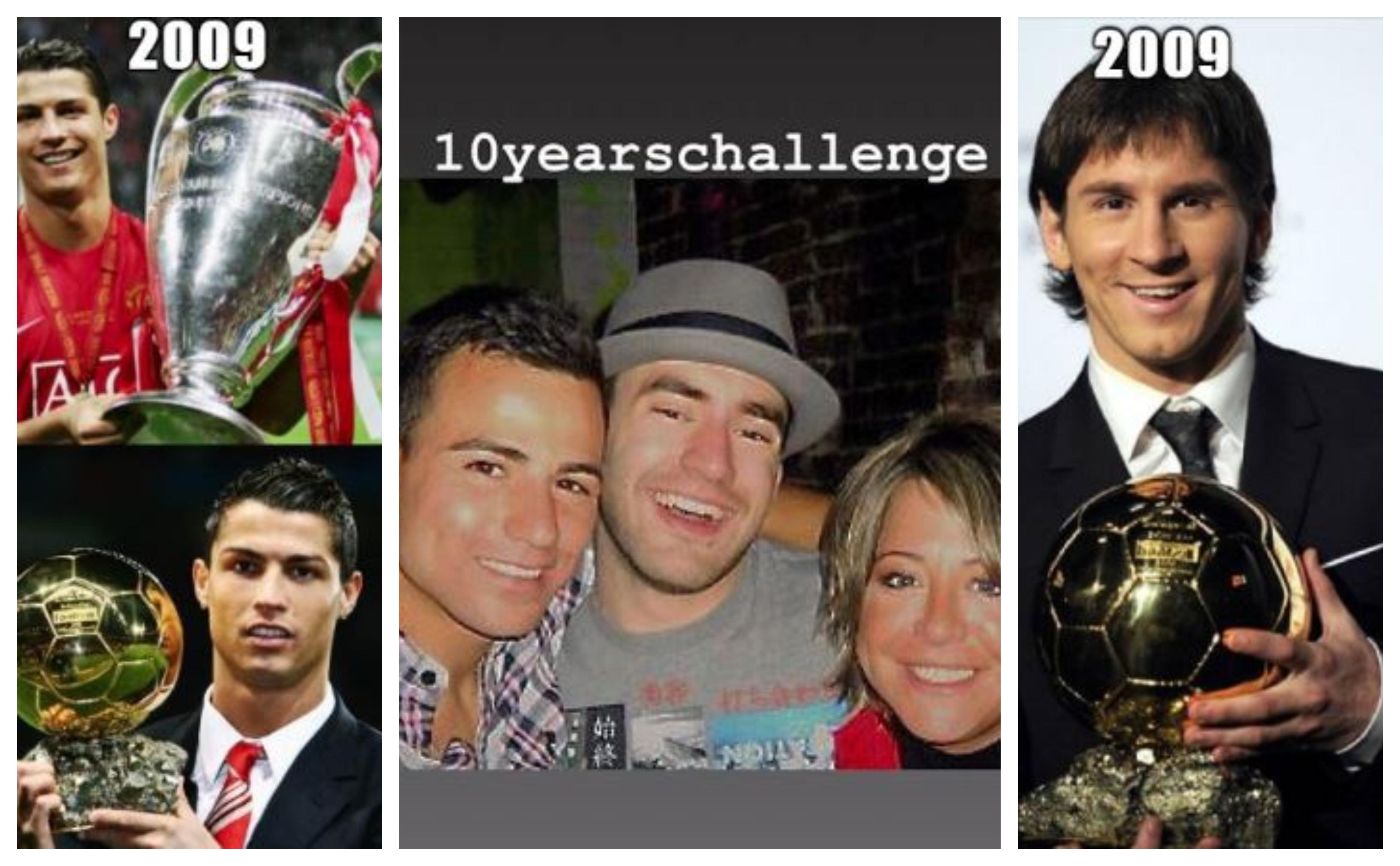 Los futbolistas han sido parte del #10YearChallenge en las redes sociales. (Foto Prensa Libre: Twitter e Instagram)