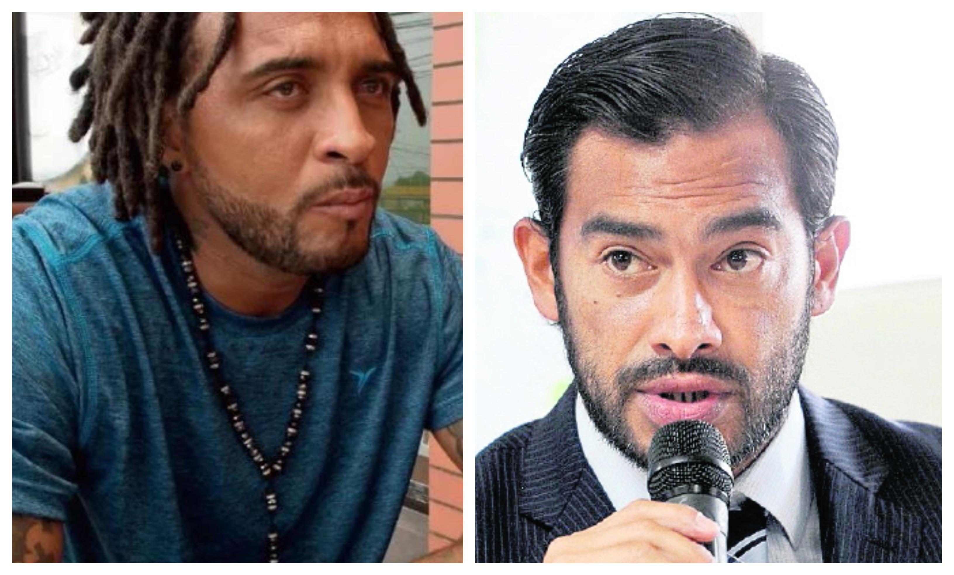Guillermo Ramírez y Carlos Ruiz, exjugadores de la Selección de Guatemala. (Foto Prensa Libre: Hemeroteca PL)