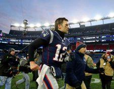Tom Brady es el caudillo de los Patriots. (Foto Prensa Libre: AFP)