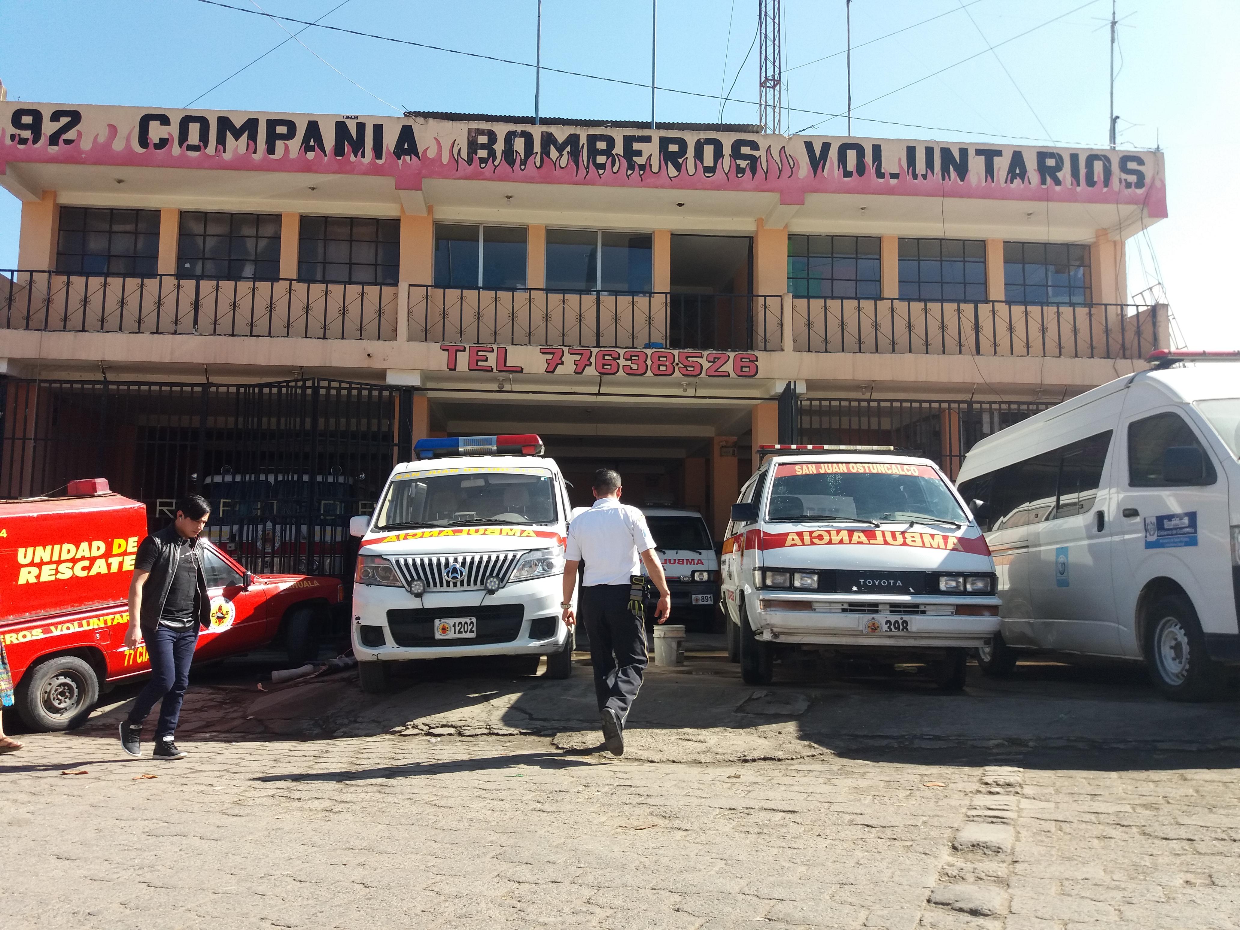 Estación de los Bomberos Voluntarios de San Juan Ostuncalco, Quetzaltenango. (Foto Prensa Libre: Raúl Juárez)