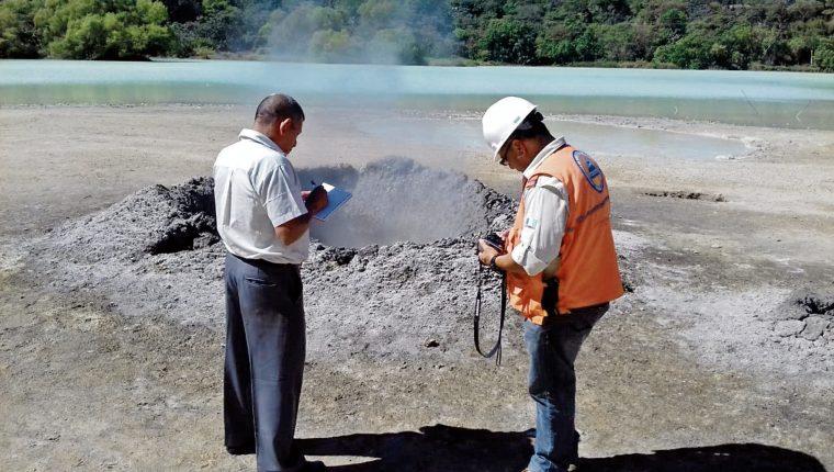 La formación del charco de lodo, como lo define el Insivumeh, fue descubierto en octubre del 2018. (Foto Prensa Libre: Hemeroteca PL )