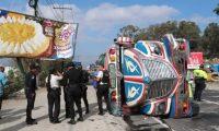 Accidente de bus en Sumpango, Sacatepéquez. Foto César Pérez