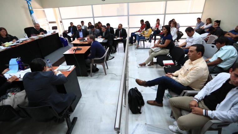 En el Tribunal Décimo Tercero Penal se realiza el debate a los implicados en el caso Botín en el Registro de la Propiedad. (Foto Prensa Libre: Hemeroteca PL)