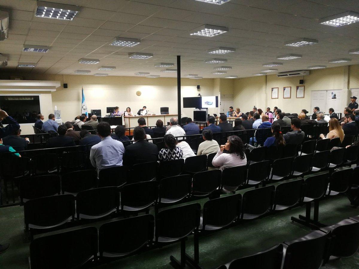 """En la Sala de Audiencias de Mayor Capacidad, """"megasala"""", se realizó la audiencia. (Foto Prensa Libre: Kenneth Monzón)"""