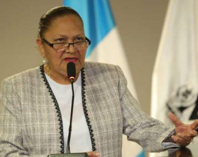 La fiscal general María Consuelo Porras por medio de un comunicado exigió a la PNC la reasignación de investigadores policiales. (Foto Prensa Libre: Hemeroteca PL)