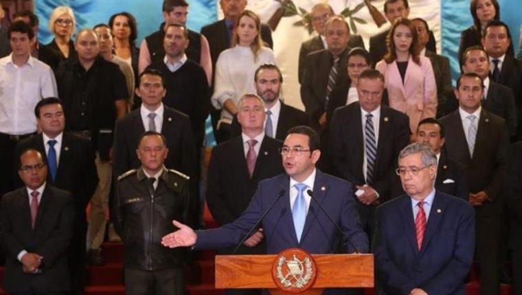 El pasado lunes 7 de enero, el presidente Jimmy Morales dirigió un mensaje a la República sobre el accionar de la Comisión Internacional Contra la Impunidad en Guatemala (Cicig). (Foto Prensa Libre: Esbin García)