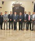 La foto oficial de la reunión anual de las comisiones de árbitros de Uncaf. (Foto Prensa Libre: Uncaf)