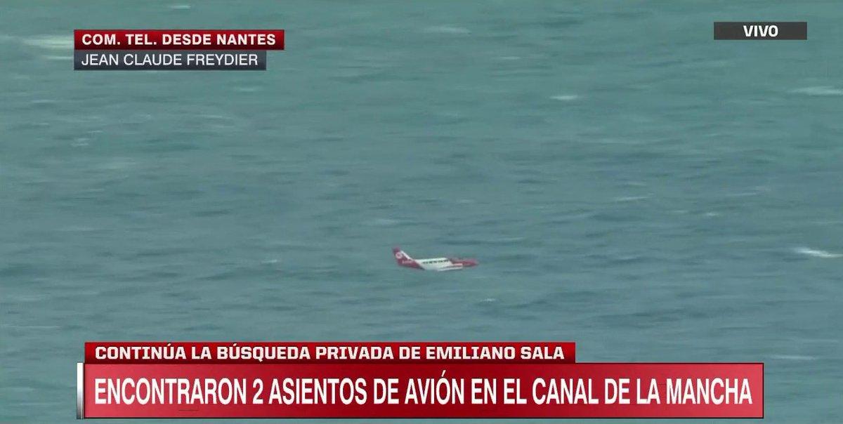 La búsqueda por Emiliano Sala continúa. (Foto Prensa Libre: Twitter)