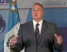 El ministro de Gobernación Enrique Degenhart. (Foto Prensa Libre: Mingob)