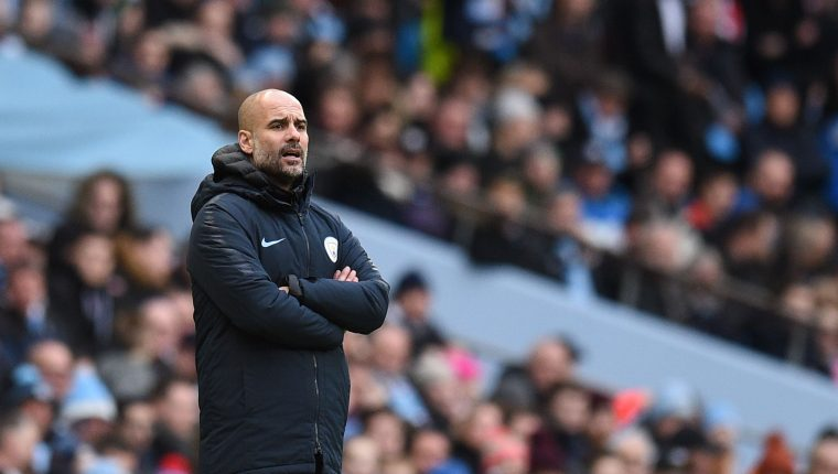 Pep Guardiola, técnico del Manchester City. (Foto Prensa Libre: AFP)