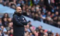 Manchester City's Spanish manager Pep Guardiola watches from the touchline during the English FA Cup fourth round football match between Manchester City and Burnley at the Etihad Stadium in Manchester, north west England, on January 26, 2019. (Photo by Oli SCARFF / AFP) / RESTRICTED TO EDITORIAL USE. No use with unauthorized audio, video, data, fixture lists, club/league logos or 'live' services. Online in-match use limited to 120 images. An additional 40 images may be used in extra time. No video emulation. Social media in-match use limited to 120 images. An additional 40 images may be used in extra time. No use in betting publications, games or single club/league/player publications. /