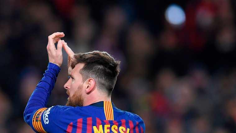 Lionel Messi cerró la goleada del Barcelona. (Foto Prensa Libre: AFP)