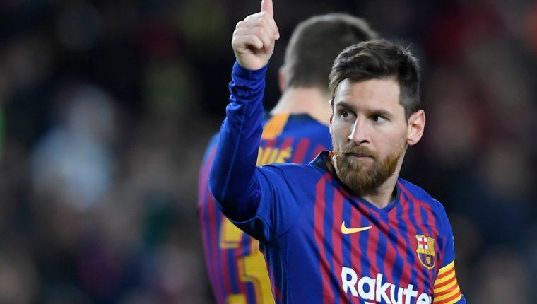 Lionel Messi tuvo un partido soñado frente al Éibar. (Foto Prensa Libre: AFP)