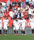 Los jugadores del Sevilla tuvieron un partido soñado. (Foto Prensa Libre: AFP)