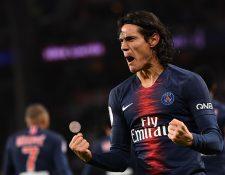 Edinson Cavani, artillero del París Saint-Germain. (Foto Prensa Libre: AFP)
