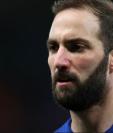 Gonzalo Higuaín debutó en la victoria del Chelsea sobre el Sheffield Wednesday por la cuarta ronda de la Copa FA. GETTY IMAGES