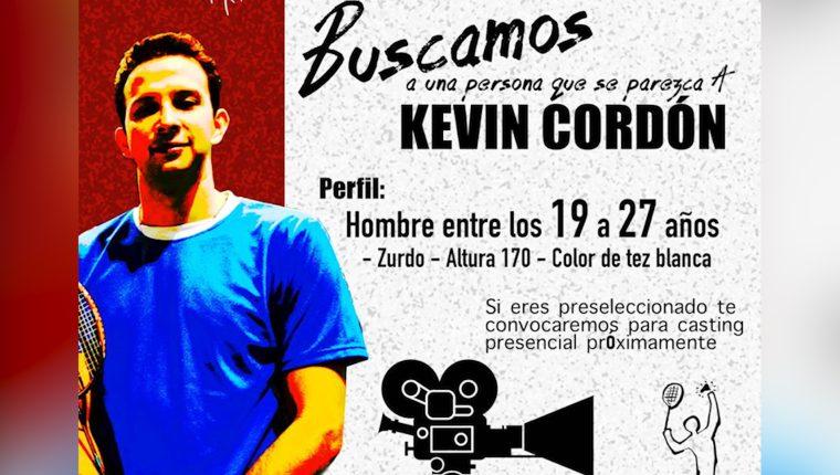 En febrero se rodará la película inspirada en la vida del badmintonista Kevin Cordón. (Foto Prensa Libre: JR Producciones)