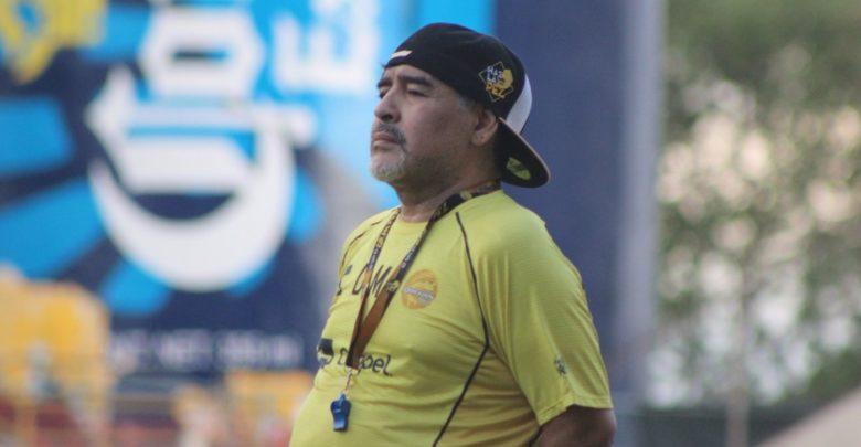 El argentino Diego Maradona volvió este viernes a México para hacerse cargo de Dorados. (Foto Prensa Libre: Dorados)