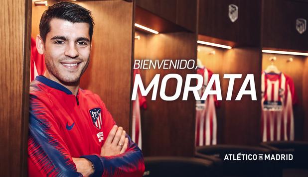 Álvaro Morata regresa al Atlético de Madrid, el equipo en donde fue muy feliz. (Foto Prensa Libre: Atlético de Madrid)
