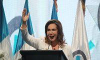 Zury R'os, es proclamadoa como candidata a presidenta  por el partido Valor.   Fotograf'a. Erick Avila:               02/12/2018
