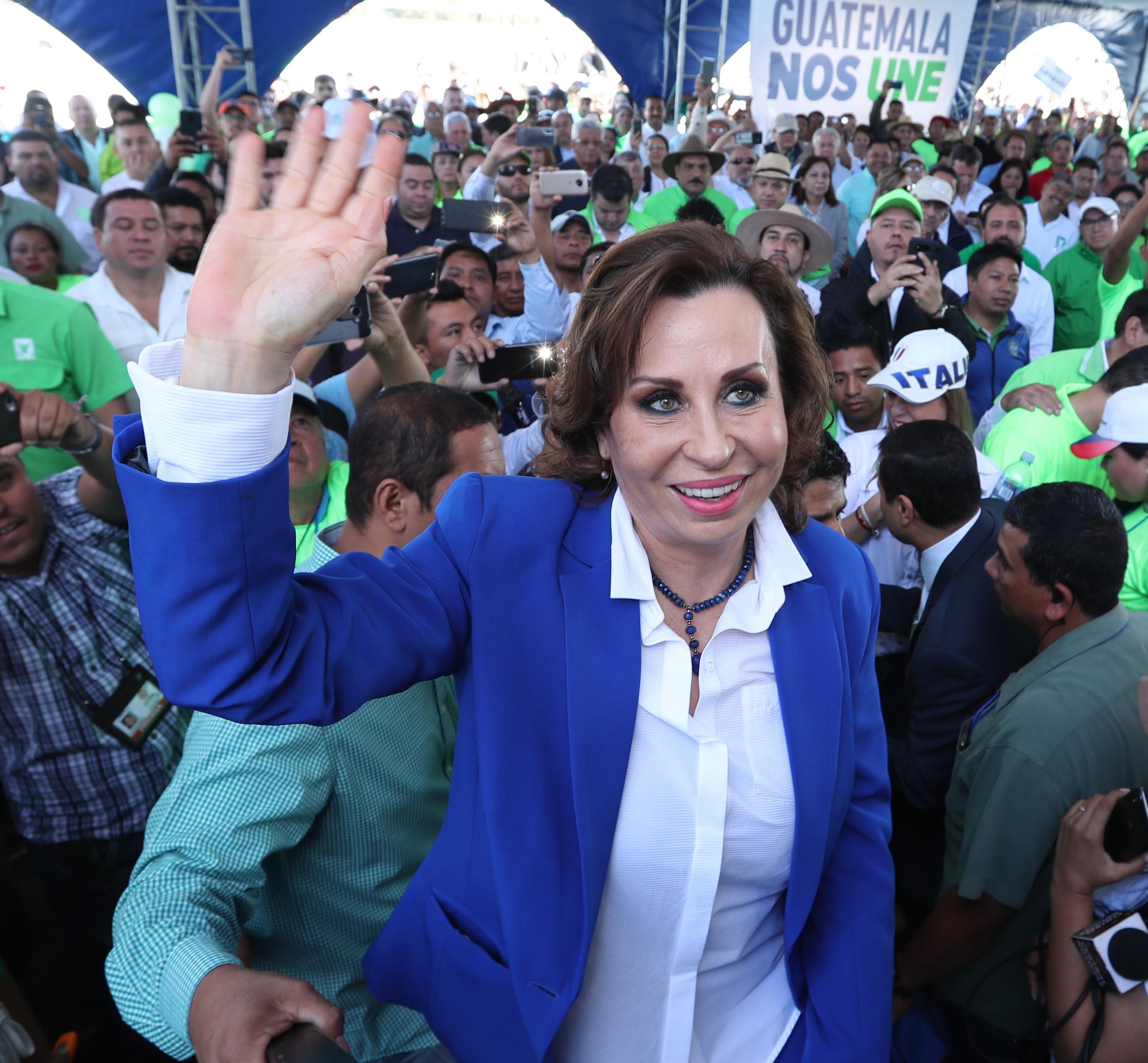 Sandra Torres encabeza el binomio de la UNE. (Foto Prensa Libre: Hemeroteca PL)