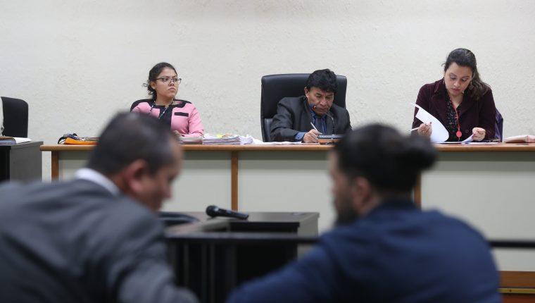 """La audiencia se realizó en la Sala de Audiencias de Mayor Capacidad, """"megasla"""". (Foto Prensa Libre: Carlos Hernández)"""