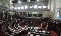 El presidente Jimmy Morales asisti— este lunes a la sesi—n solemne en el Congreso donde present— su tercer informe de gobierno .                                                                                                                                                               Fotograf'a Esbin Garcia 14-01- 2019.