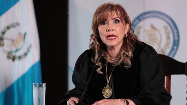 Magistrada de la CC,  Dina Ochoa. (Foto Prensa Libre: HemerotecaPL)