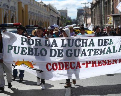 Codeca anuncia protestas en la capital y estos serán los puntos afectados
