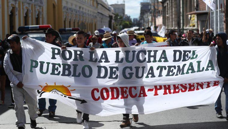 Integrantes de Codeca protestarán en la capital el jueves 18 de febrero. (Foto Hemeroteca PL)