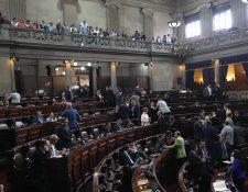 El pleno del Congreso realizó el sorteo para integrar la Comisión Pesquisidora que verá el antejuicio contra tres magistrados de la CC. (Foto Prensa Libre: Erick Ávila)