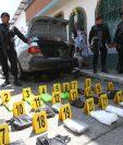 Imágenes de un decomiso de cocaína el año pasado en una carretera de Guatemala. (Foto Prensa Libre: Hemeroteca PL)